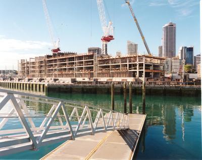 Fletcher Development & Construction Ltd, Auckland: 1999 The Point Apartments Viaduct Basin - construction