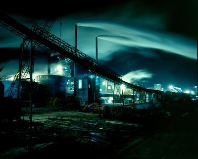 Golden Bay Cement Co Ltd: 1986 Portland - plant at dusk