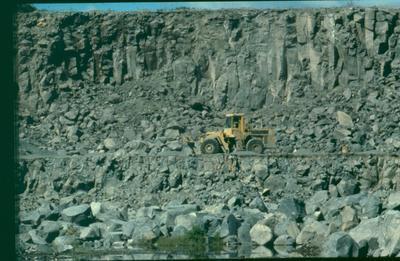 Winstone Ltd: 1985 Lunn Ave Quarry (LAQ), Mt Wellington, Auckland - quarry face