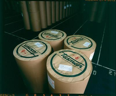 Tasman Pulp & Paper Co Ltd: 1986 Mt Maunganui storage area; 1986; Photograph