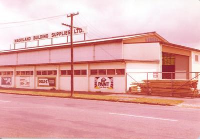 Fletcher Merchants Ltd: 1980 Maorilands Building Supplies Ltd - Kent St, Hamilton