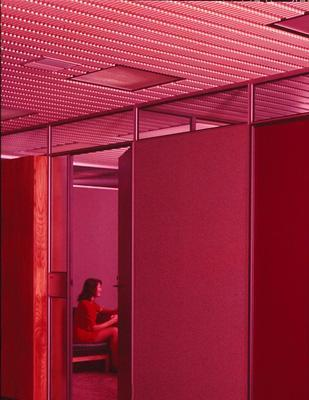 Cemac Holdings Ltd: 1977 Cemac Veneered Products Division - partitioning in office