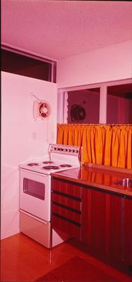 Winstone Wallboards Ltd: 1972 Kitchen in house using Gib Textured Panel