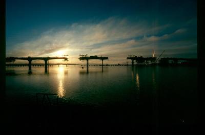 Fletcher Development & Construction Ltd, Auckland: Jun1981 Mangere Bridge - under construction