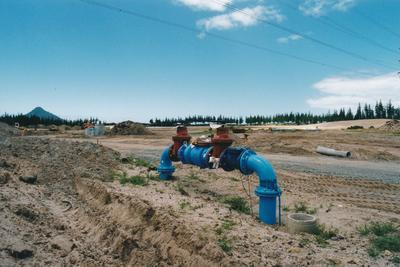 Hume Industries (NZ) Ltd - Hume Pipe Co: 2000 Humes Pipeline Systems Ltd - water valves on an unidentified job