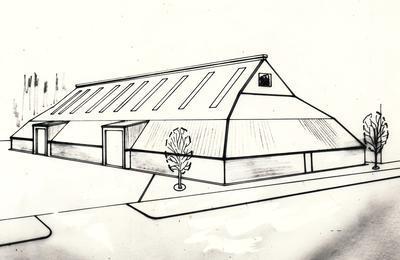 Wrightson NMA Ltd: 1976 Artists plan - 4500 Tonne Bulk Grain Store & Maize Drying Complex, Gisborne, East Coast