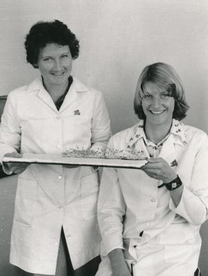 Wrightson NMA Ltd: 1978 Seed Testing Laboratory, Christchurch (a) Stephanie Purchas (b) Decima Kavanagh (c) S Purchas & D Kavanagh