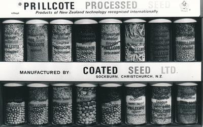 Wrightson NMA Ltd: 1975 Coated Seeds Sample Kit - Prillcote processed seed