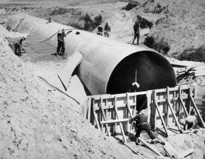 Fletcher Corrugated Steel Products Ltd (CSP): 1965 Armco installation Kahurau Stream, Tongariro, Ruapehu District