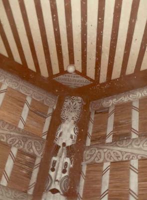 Fletcher Timber Co Ltd - Ruatahuna Mill, Bay of Plenty Region: 1970 Te Whai-a-te-motu painted beams, Ruatahuna