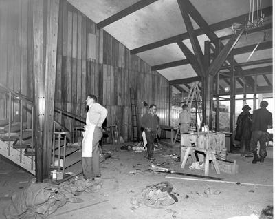 Fletcher Construction Co Ltd - The Hermitage, Aoraki/Mt Cook: 1958 working on interior of new hotel