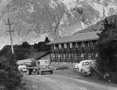 Fletcher Construction Co Ltd - The Hermitage, Aoraki/Mt Cook: 1958 exterior view of new staff quarters