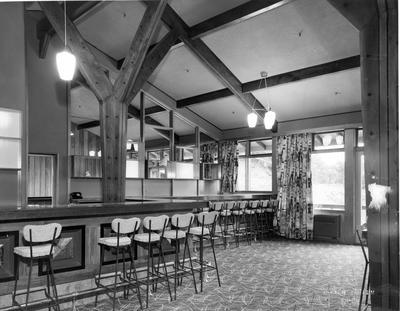 Fletcher Construction Co Ltd - The Hermitage, Aoraki/Mt Cook: 1958 bar lounge of hotel