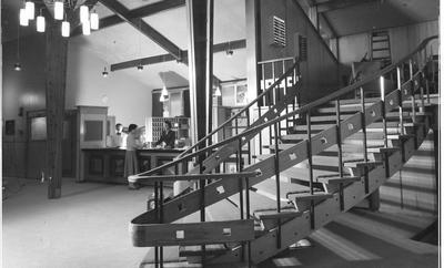 Fletcher Construction Co Ltd - The Hermitage, Aoraki/Mt Cook: 1958 staircase of new hotel