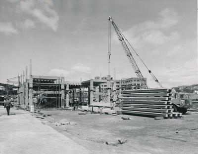 Fletcher Construction Co Ltd - Clyde Quay Wharf Extensions / Overseas Passenger Terminal, Oriental Bay, Wellington: 1964 during construction
