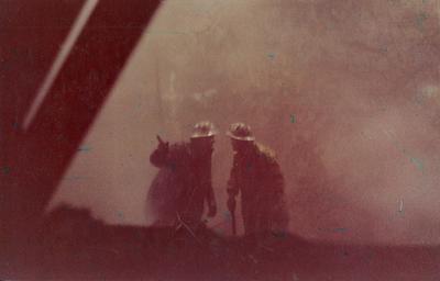 Fletcher Construction Co Ltd, Civil Engineering Division - Christchurch-Lyttelton Road Tunnel: 1961 workmen in tunnel
