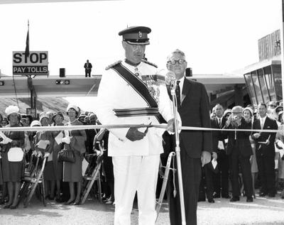 Fletcher Construction Co Ltd, Civil Engineering Division - Christchurch-Lyttelton Road Tunnel: 27Feb1964 Opening day (33 items) various views of opening ceremony at tunnel entrance etc