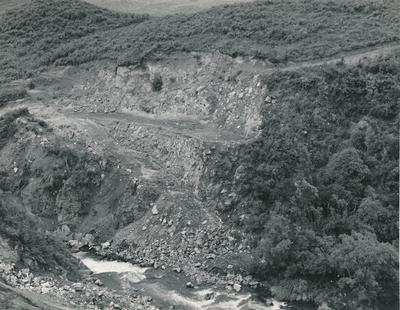 Fletcher Construction Co Ltd - King Country Electric Power Board [KCEPB], Kurutau River Hydro-Electric Project, Taupo: 1961 Views of Kurutau River Gorge