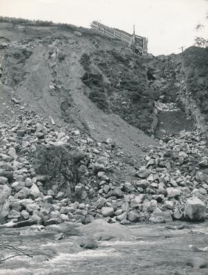 Fletcher Construction Co Ltd - King Country Electric Power Board [KCEPB], Kurutau River Hydro-Electric Project, Taupo: 1961 power scheme - gorge