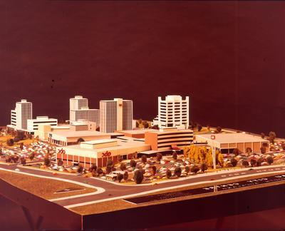 Fletcher Holdings Ltd: 1973 Manukau City Centre (model), Auckland