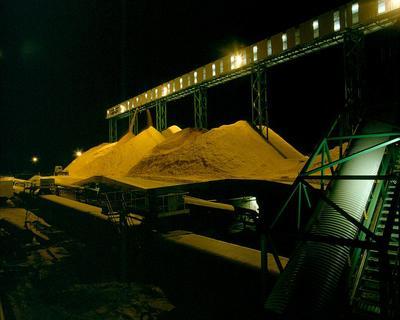 Tasman Pulp & Paper Co Ltd, Kawerau: 1990 Chip piles