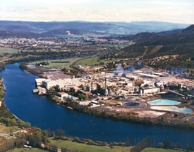 Australian Newsprint Mills Ltd: Boyer Mill - 1991 Aerial photograph
