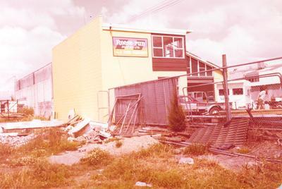 Fletcher Merchants Ltd: 1969 Fletcher Lumbermart - display of panelling, flooring etc