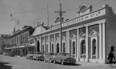 Wright Stephenson & Co Ltd - Gore Branch, Southland: 1950 office and motor garage