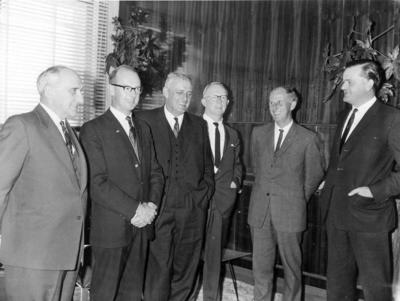 Wright Stephenson & Co Ltd - Gore Branch, Southland: 1965 Board of Directors visiting; Ron Trotter first left)