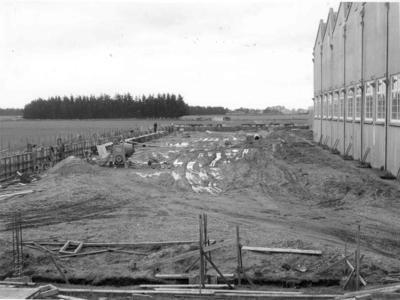 Wright Stephenson & Co Ltd - Invercargill Branch, Southland: 1952 Construction of additions to the Wool Store