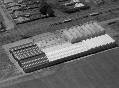 Wright Stephenson & Co Ltd - Invercargill Branch, Southland: 1958 Aerial view of the Wool Store
