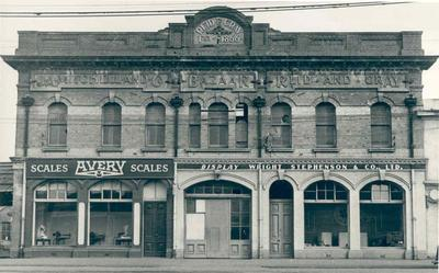 Wright Stephenson & Co Ltd - Invercargill Branch, Southland: 1903 the company's first office premises in Invercargill at J A Mitchell & Co's horse bazaar