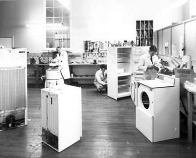 Wright Stephenson & Co Ltd - Invercargill Branch, Southland: 1970 Appliance Home Store opening day - Refrigeration Service Department