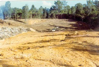 Tairua Heights subdivision, Coromanel Peninsula: 1977 development stage II - land being cleared (10 items); 1977; Photograph