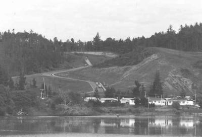 Tairua Heights subdivision, Coromanel Peninsula: 1977 development stage II - view from Pepe Lagoon; 1977; Photograph