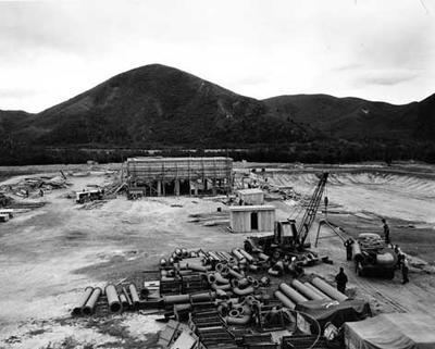 Tasman Pulp & Paper Co Ltd: 8Apr1954 Kawerau mill site before construction