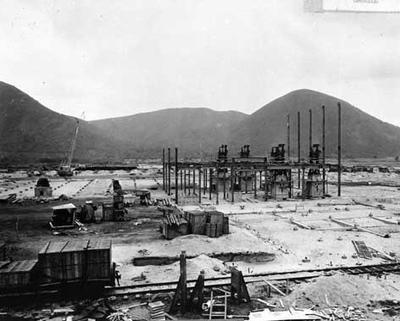 Tasman Pulp & Paper Co Ltd: 26Nov1954 Kawerau mill construction