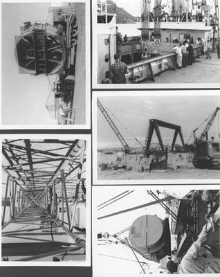 Fletcher Construction Co Ltd - Contracts - jv Downer & Co and Wilkins & Davies - Marsden Point Power Station, Whangarei, Northland: 1976 Marsden Point B Crane