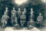 Wright Stephenson & Co Ltd - Gore Branch, Southland: 1925 Edendale Sub-agency staff - Back row B R Newton; J J Scoular; F Gilligan; J Daley; C S Weir; Middle row J McCrae; H A Raines; H A Price; G Dempster; P J Ballantyne; Front row Miss M MacPherson; Miss A McKenzie;